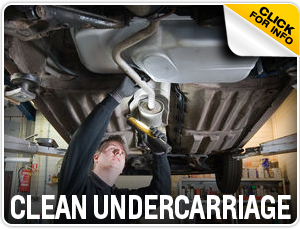Click to research our Chevrolet clean undercarriage inspection service in Beaverton, OR