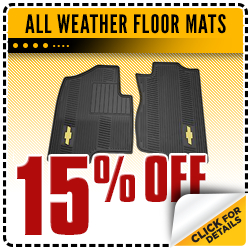 Click to save with this Carr Chevrolet parts department special offer on genuine GM all-weather floor mats in the Portland, OR area