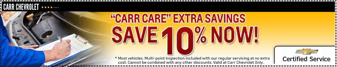 Carr Chevrolet Save 10% On Service Special in Beaverton, OR