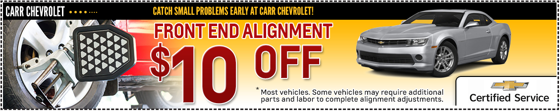 Carr Chevrolet Front-End Wheel Alignment Service Special in Beaverton, OR