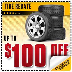 Save on Name Brand Tires in our Service Department at Carr Chevrolet in Beaverton, OR