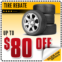 Browse our tire rebate service special at Carr Chevrolet in Beaverton, OR