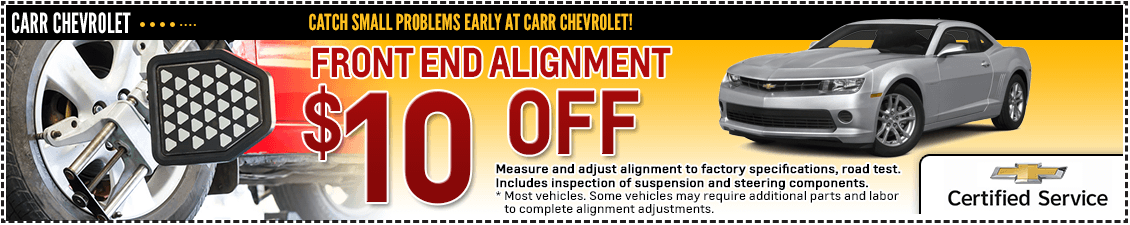 Carr Chevrolet Front End Alignment Service Special in Beaverton, OR
