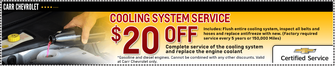 Carr Chevrolet Cooling System Service Special in Beaverton, OR