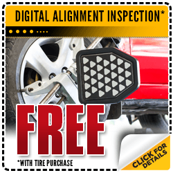 Save with our Free alignment inspection with tire purchase special at Carr Chevrolet in Beaverton, OR