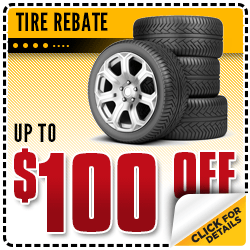 Click to Get Rebates Up To $100 Off a Set of 4 Tires at Carr Chevrolet in Beaverton, OR
