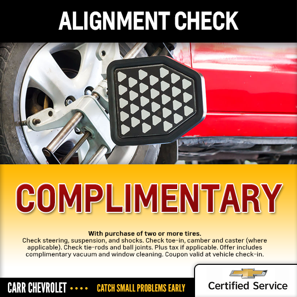 Carr Chevrolet Wheel Alignment Special Service Savings Offer in Beaverton, OR