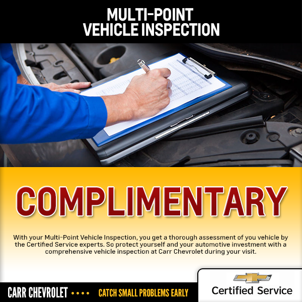 Carr Chevrolet Complimentary Multi Point Car Inspection Service Special in Beaverton, OR