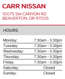 Address and Hours for Carr Nissan