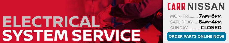 Nissan Electrical Service Information at Carr Nissan serving Portland, Oregon