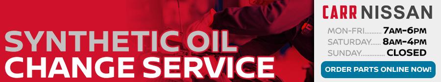 Nissan Synthetic Oil Change Service Information at Carr Nissan serving Portland, Oregon