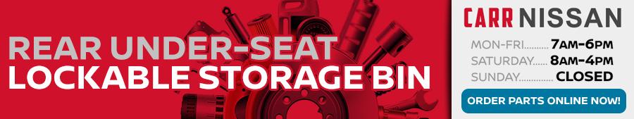 Nissan Rear Under Seat Lockable Storage Bin Information in Beaverton, OR