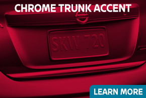 Click to learn about our Nissan chrome trunk accent in Beaverton, OR