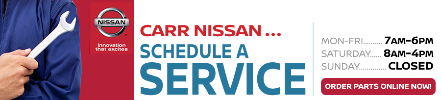 CARR Nissan's Express Service and Dollar a Day Service Rental serving Beaverton