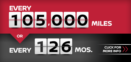 Click to learn more about our 105,000 mile or 126 month service interval at Carr Nissan in Beaverton, OR