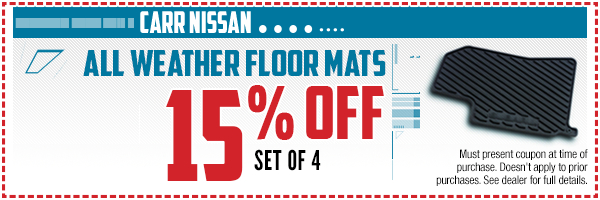Nissan all-weather floor mats parts special in Beaverton, OR