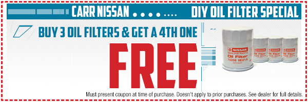 Nissan do-it-yourself oil filter parts special in Beaverton, OR