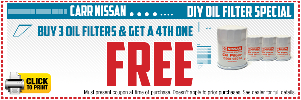 Click to print this Nissan do-it-yourself oil filter parts special in Beaverton, OR