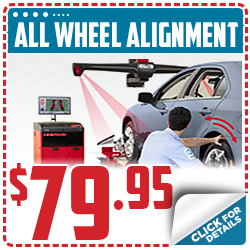 Click to save with our all-wheel alignment service special in Beaverton, OR
