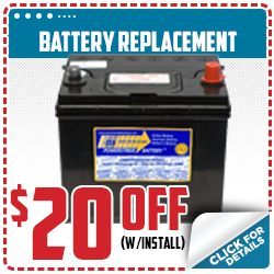 Click to save with our battery replacement service special in Beaverton, OR