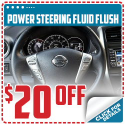 Click to save with our power steering fluid flush service special in Beaverton, OR