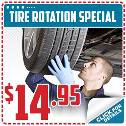 Click to save with our tire rotation service special in Beaverton, OR