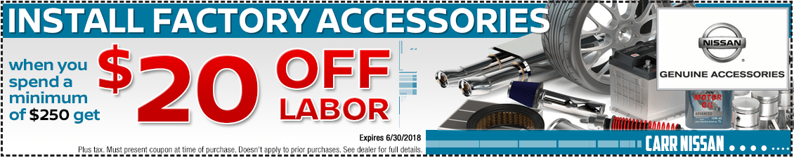 Save with this Nissan factory accessories installation service special offer in the Portland, OR area