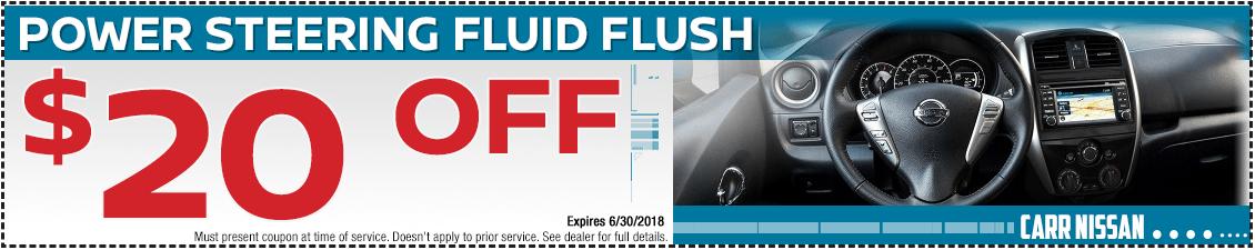 Nissan Power Steering Fluid Flush Service Special in Beaverton, OR