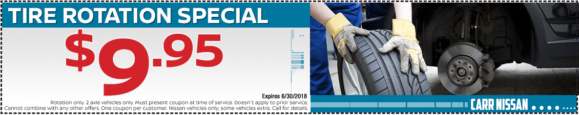 Nissan Tire Rotation Service Special in Beaverton, OR