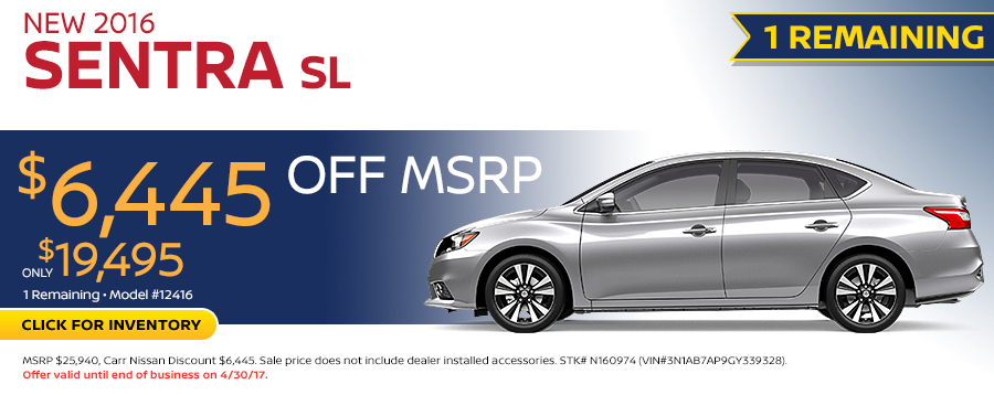 2016 Nissan Sentra SL Purchase Special in Beaverton, OR