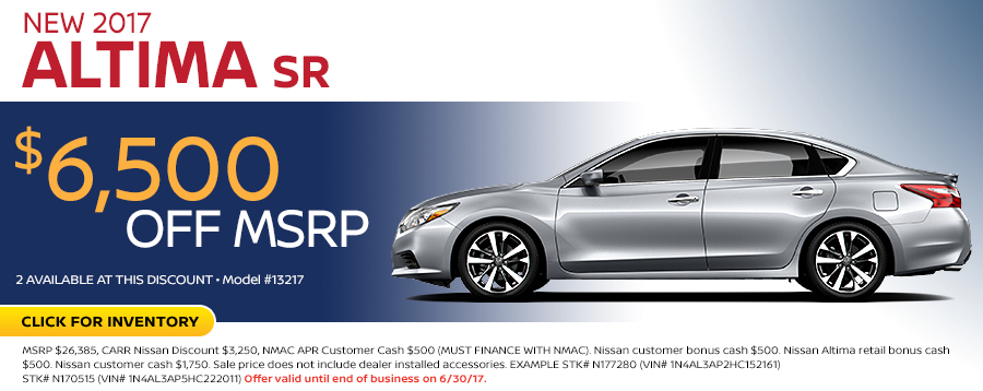 2017 Nissan Altima 2.5 SR Lease Special in Beaverton, OR