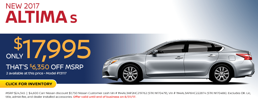 2017 Nissan Altima Lease Special in Beaveton, OR