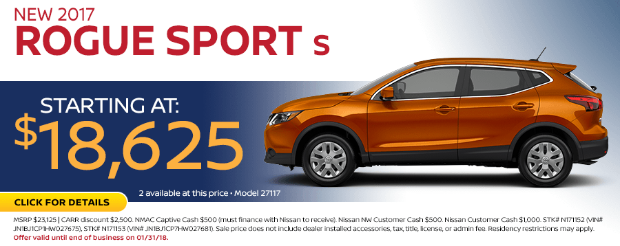 2017 Nissan Rogue Sport Sales Special in Beaverton, OR