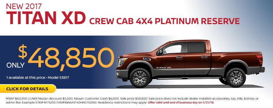 2017 Titan XD Crew Cab 4x4 Platinum Reserve Sales Special in Beaverton, OR