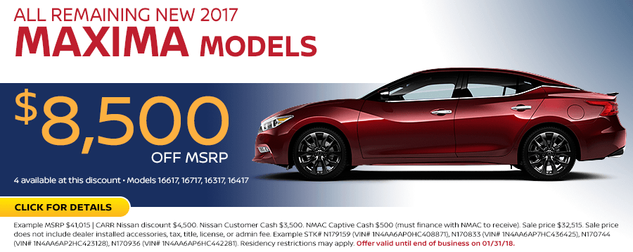 2017 Maxima Model Special at Carr Nissan in Beaverton, OR