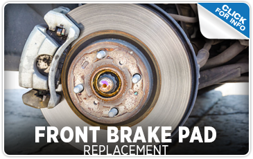 Click to learn more about our front brake pad replacement service at Carr Subaru in Beaverton, OR