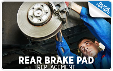 Click to learn more about our rear brake pad replacement service at Carr Subaru in Beaverton, OR