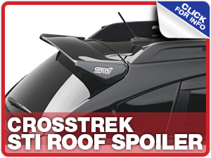 Learn more about STI Crosstrek Roof Spoilers at Carr Subaru in Beaverton, OR