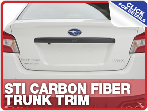 Click to learn more about Subaru STI Carbon Fiber Trunk Trim parts in Beaverton, OR