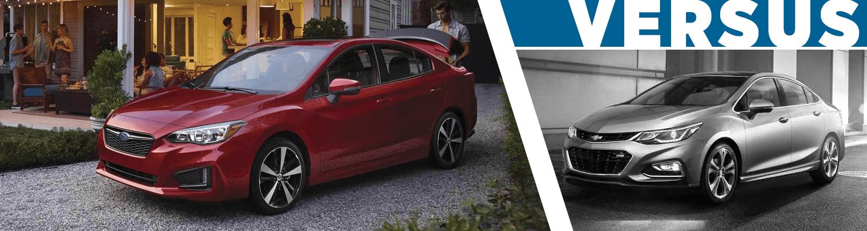 2018 subaru impreza 4 door vs 2018 chevrolet cruze compare compact car models beaverton or. Black Bedroom Furniture Sets. Home Design Ideas