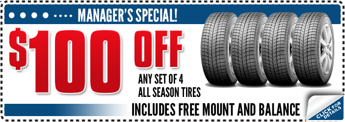 Click to View All-Season Tire Service Manager's Special Serving Oregon City