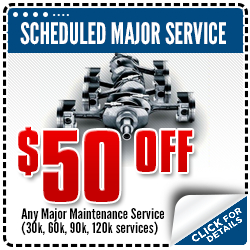 Click for more details about our Scheduled Major Subaru Maintenance special discount coupon available for use in Beaverton, OR this month