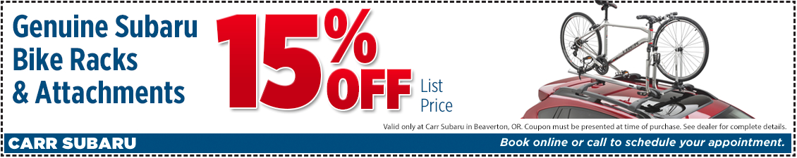 Click to Print This Genuine Subaru Bike Racks and Attachments Parts Special in Beaverton, OR