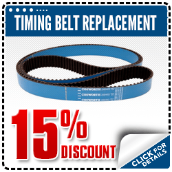 Click to view our Subaru timing belt replacement service special in Beaverton, OR