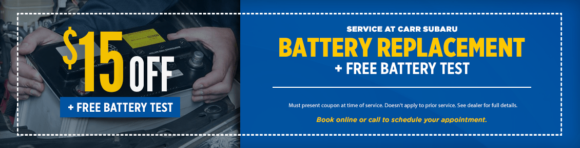 Click to Print This Free Battery Replacement Service Special at Carr Subaru in Beaverton, OR