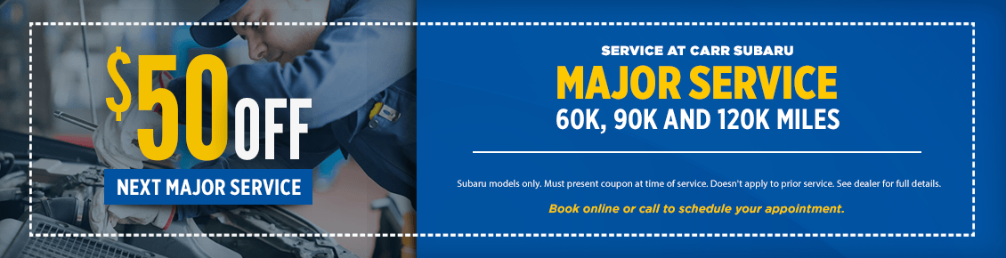 Click to Print This Major Maintenance Service Special at Carr Subaru in Beaverton, OR
