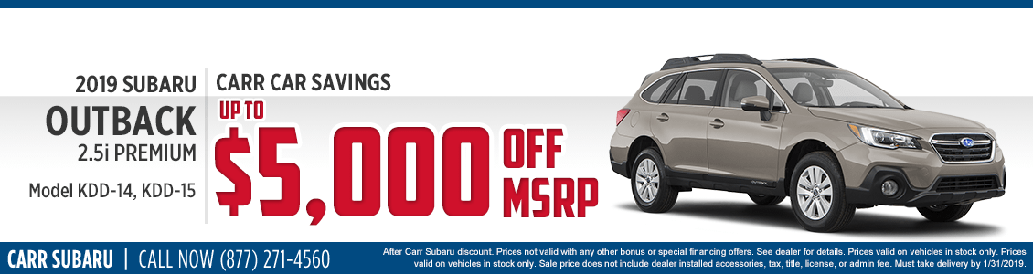 2019 Subaru Outback 2.5i Premium Purchase Special at Carr Subaru in Beaverton, OR