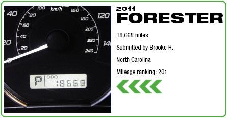 2011 Subaru Forester - 18,668 miles