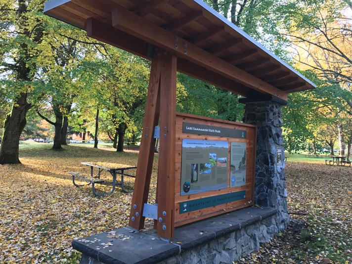 Carter Subaru helped make this visitor's kiosk at Sammamish State Park, WA possible