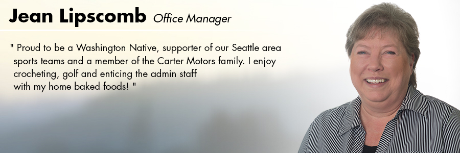 Jean Lipscomb, Office Manager at Carter Subaru Ballard in Seattle, WA